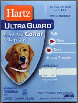 Хартц Ультра Гард Ошейник инсектоакарицидный для собак ,26г (белый окружность шеи до 58см)