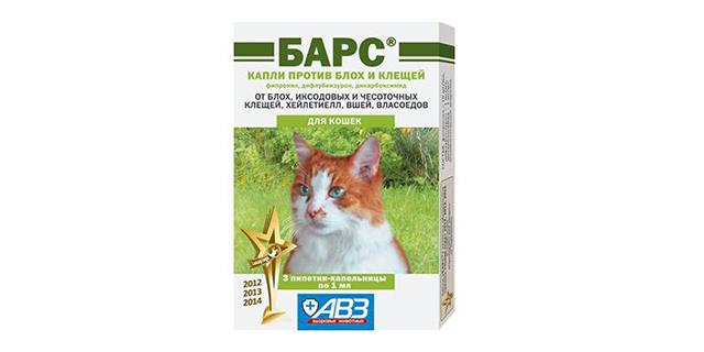 Капли от блох и клещей для кошек